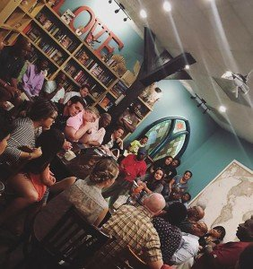 """Community Forum"" at Jarani's Coffeehouse in Manassas, July 11, 2016."