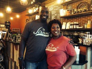 Ken and Detra Moorman at Jarani's Coffeehouse in Manassas.