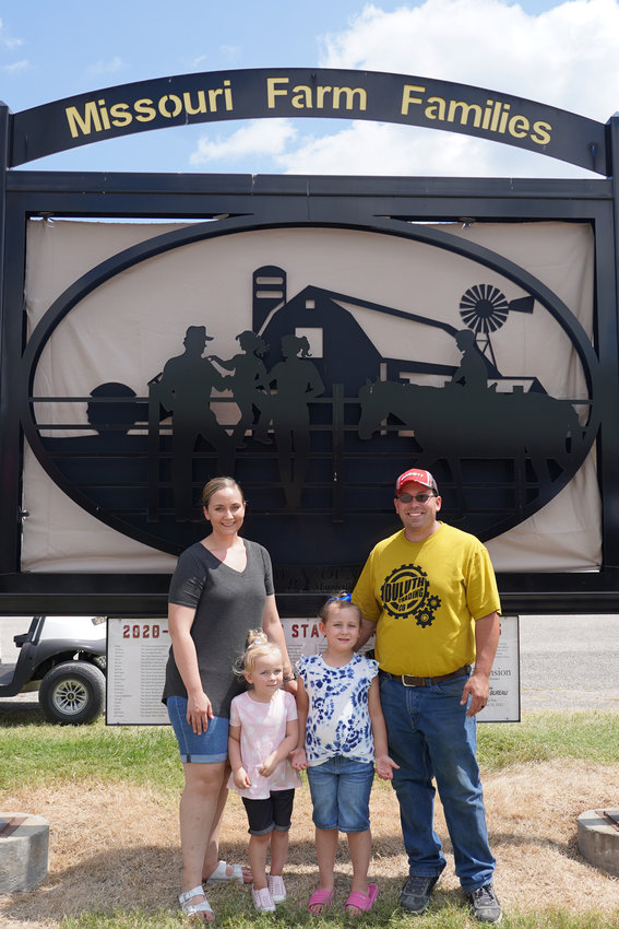 The Dallas County Missouri Farm Family of 2021 includes, from left, Kelsey, Emmy, Eloise and Lance Doty.