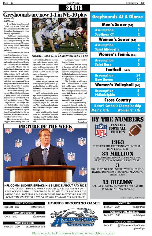 Sports front, before: The sports front, which is on the back cover, suffered from too many competing ideas. The visual chaos makes it difficult to focus on any one element.