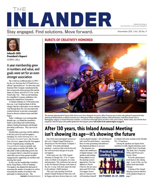 After: The new branding on the Inlander, along with a more organized and stronger visual approach to its layout.