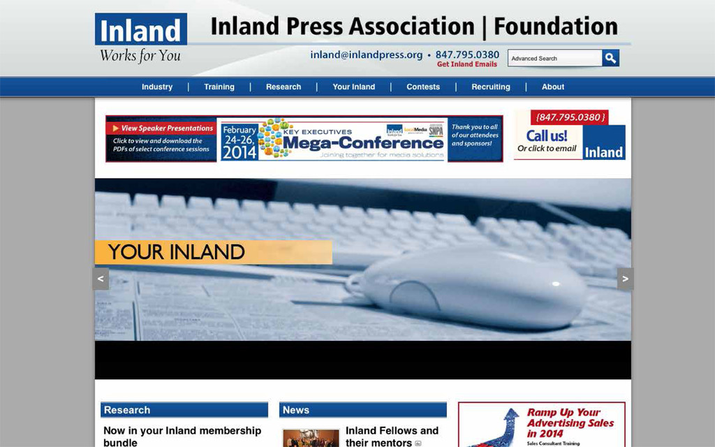 Before: The association's web page