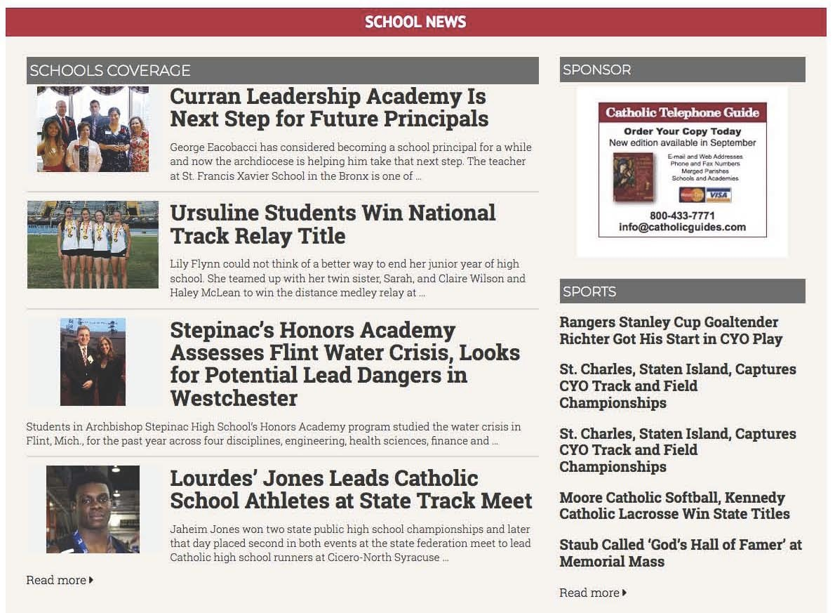 It's easy to create layers that focus on specialized content like schools or sports, the Bishop or a special event.