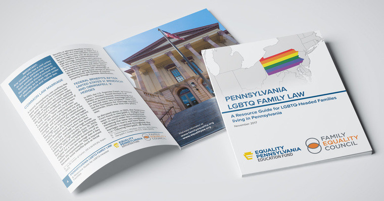 """This new resource will help LGBTQ community members across Pennsylvania understand the steps they can take to protect their families."" The Family Equality Council is making available – for FREE – Pennsylvania LGBTQ Family Law: A Resource Guide for LGBTQ-headed families living in Pennsylvania. Go to - ResourceGuide."