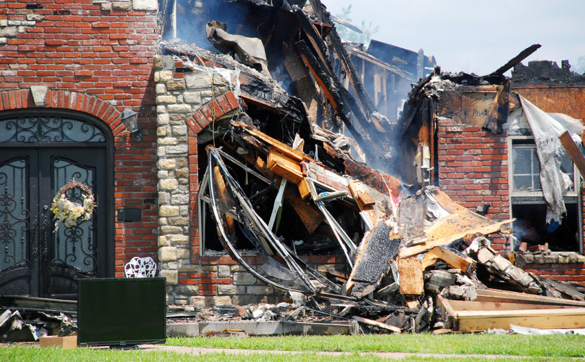 A HOUSE OFF OF GALENA ROAD south of Ozark was lost to an overnight fire on July 6.