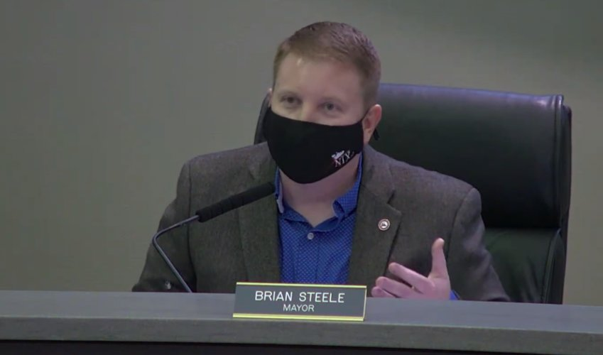NIXA MAYOR BRIAN STEELE could be subject to a recall election if voters collect enough signatures on a petition calling for Nixa to hold a recall election later in 2021. Steele has been Nixa's mayor since 2014.