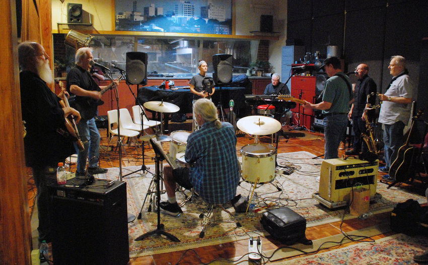 THE OZARK MOUNTAIN DAREDEVILS rehearse for their 2021 tour at Nick Sibley's Studio in Springfield.