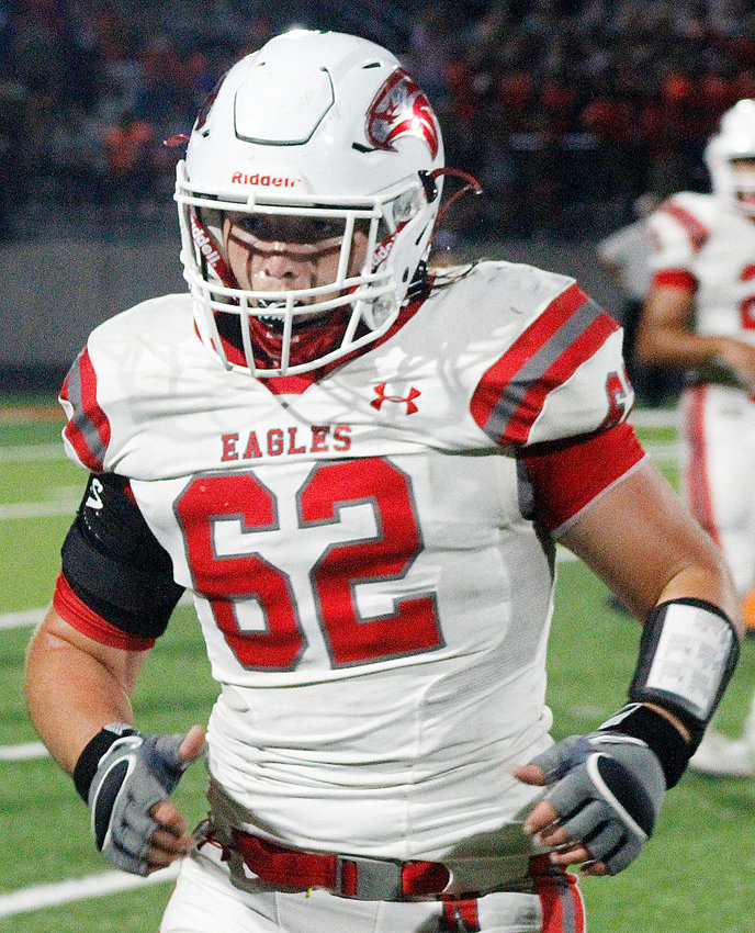 NIXA'S BRENNAN CAREY joined the Eagles over the summer as a sophomore defensive end.