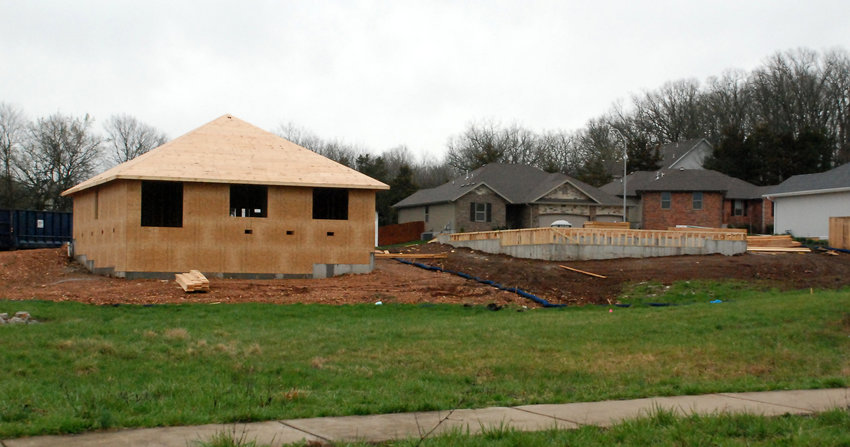 NEW HOUSES GO UP on Daisy Falls Drive in eastern Nixa just off of Cheyenne Road.
