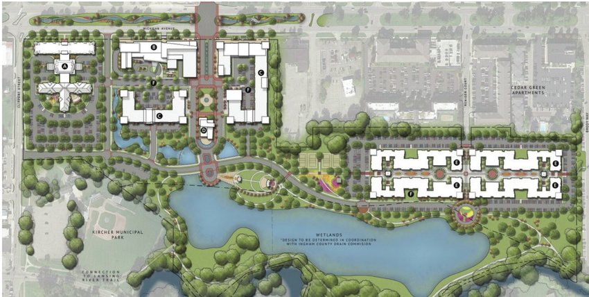Red Cedar project surfaces after years of delays | City Pulse on wilberforce campus map, tiffin campus map, loyola maryland campus map, ohio state map,