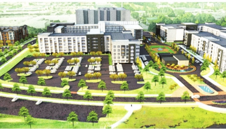A rendering of the proposed Red Cedar development.