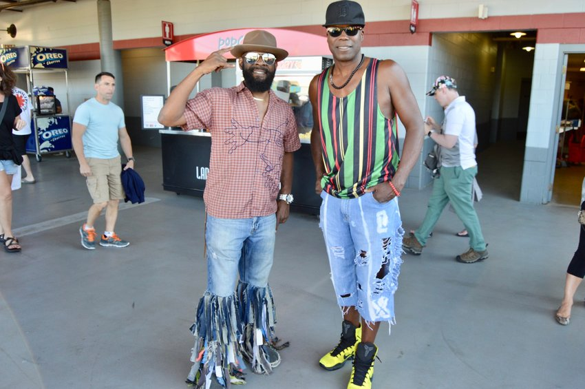 "Dudley Williams (left), 50, said, ""My favorite memory from the '90s was listening to Heavy D & The Boyz."" Karl Jackson, 50, said his favorite memory from the '90s was watching Will Smith on ""The Fresh Prince."""