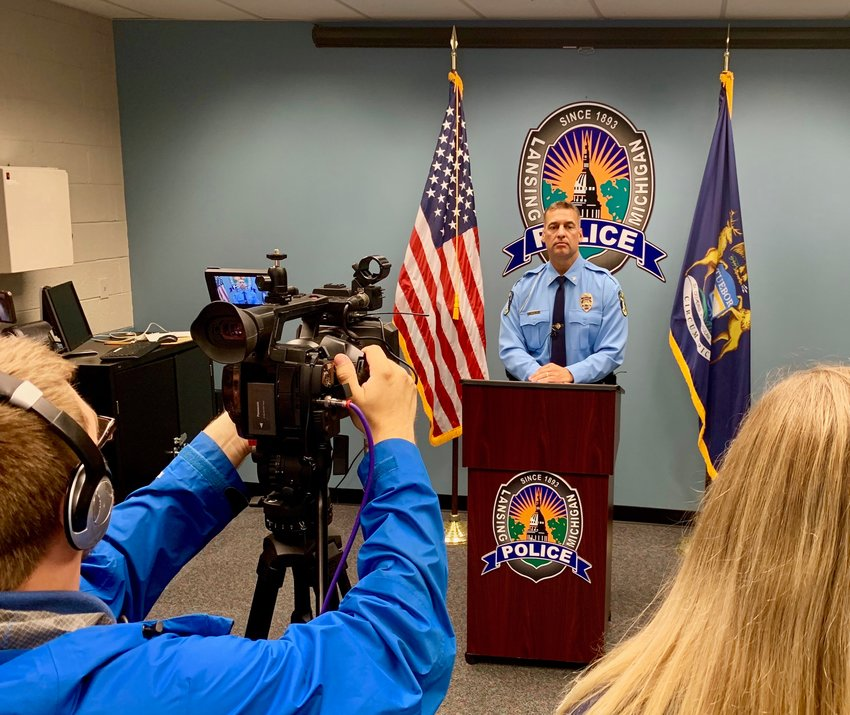 Lansing Police Chief Michael Yankowski will oversee an internal investigation into the use of force by an officer after eyewitness videos showed an officer apparently repeatedly striking a teenage runaway.
