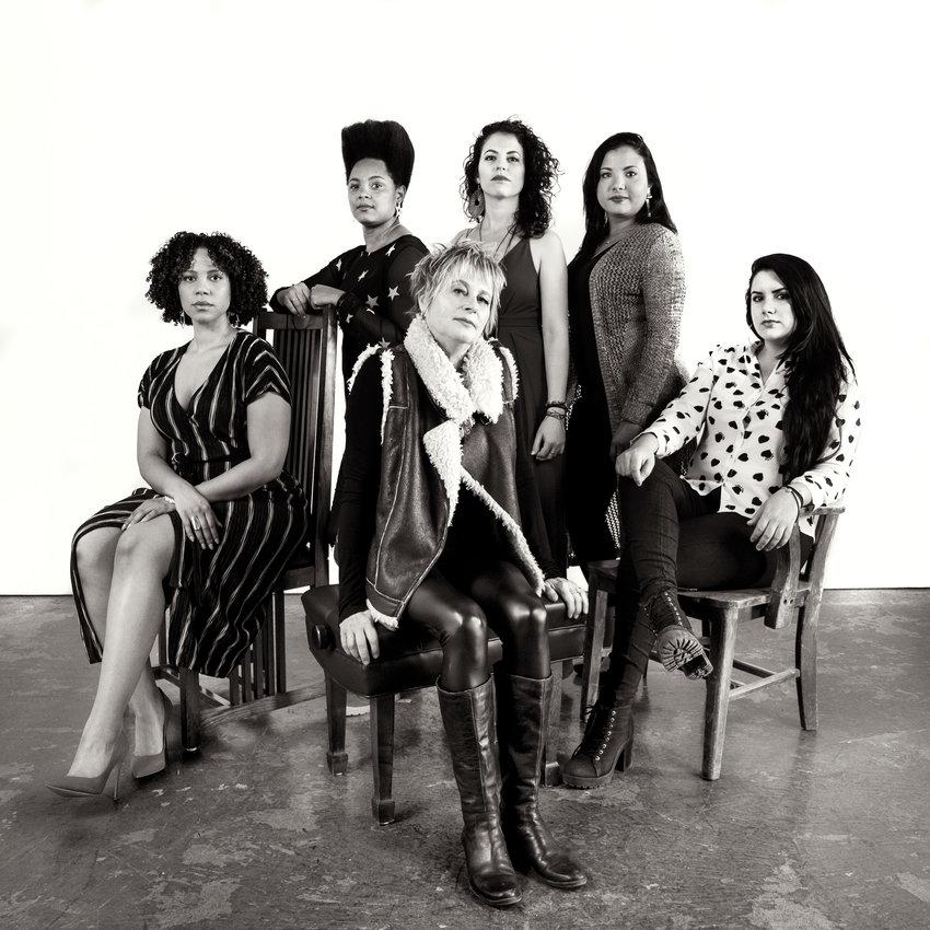 Toronto saxophonist Jane Bunnett brings Maqueque, an ensemble of young Cuban and African musicians. Left to right: Joanna Tendai Majoko, Yissy Garcia, Jane Bunnett, Tailin Marrero Zamora, Dánae Olano, MaryPaz Fernandez.