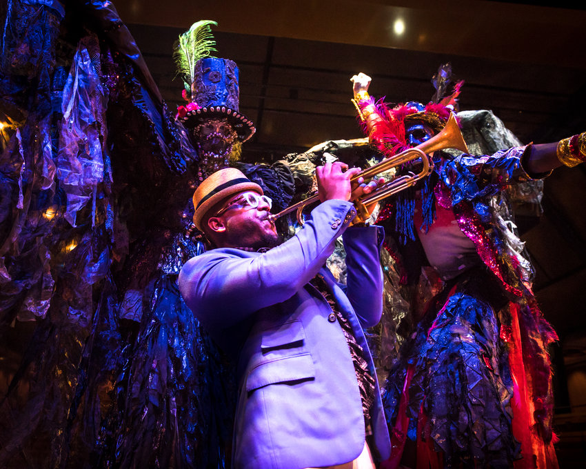 "Trumpeter Etienne Charles brings his nationally acclaimed ""Carnival"" group to East Lansing for the first time Friday."