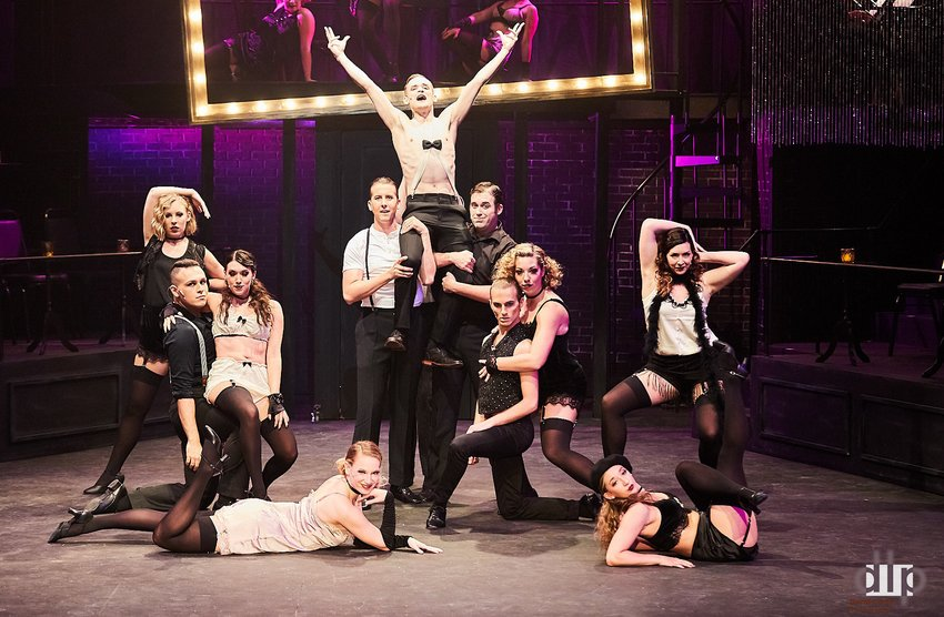 "The cast of ""Cabaret."""