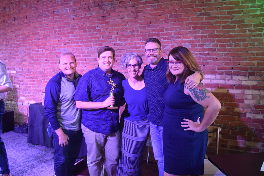 (Left to right) Josh Holliday, Garrett Bradley, Amanda DeKatch, Chad DeKatch and Stephanie Banghart.