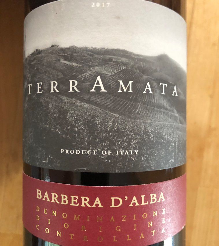 The 2017 Terramata Barbera d'Alba hails from Cantina Vingnaioli, a growers' cooperative in Piedmont, Italy.