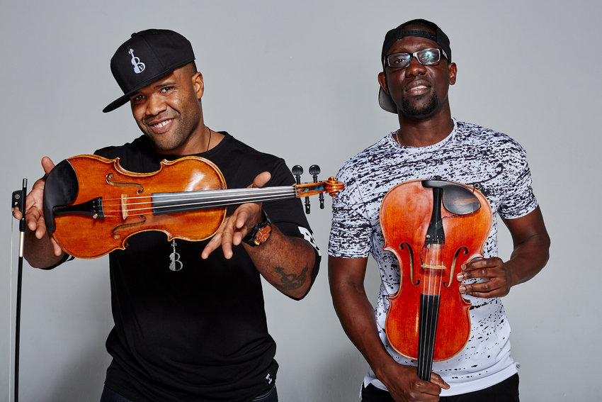 "Kev Marcus (left) and Will Baptiste take the violin and viola to new heights in their upcoming project ""Take the Stairs,"" loaded with inspirational, cinematic tracks."