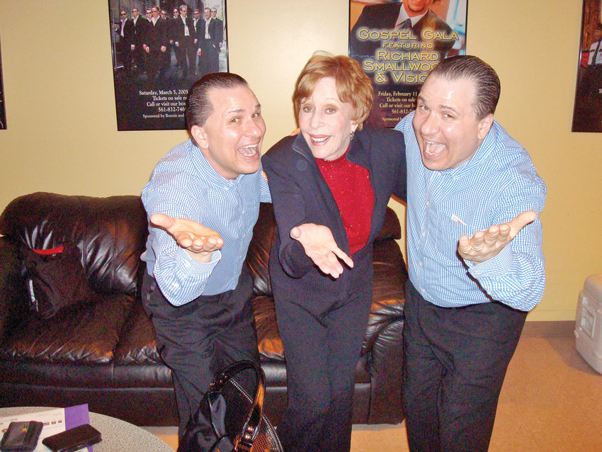 The Edwards Twins with one of their biggest fans, Carol Burnett.