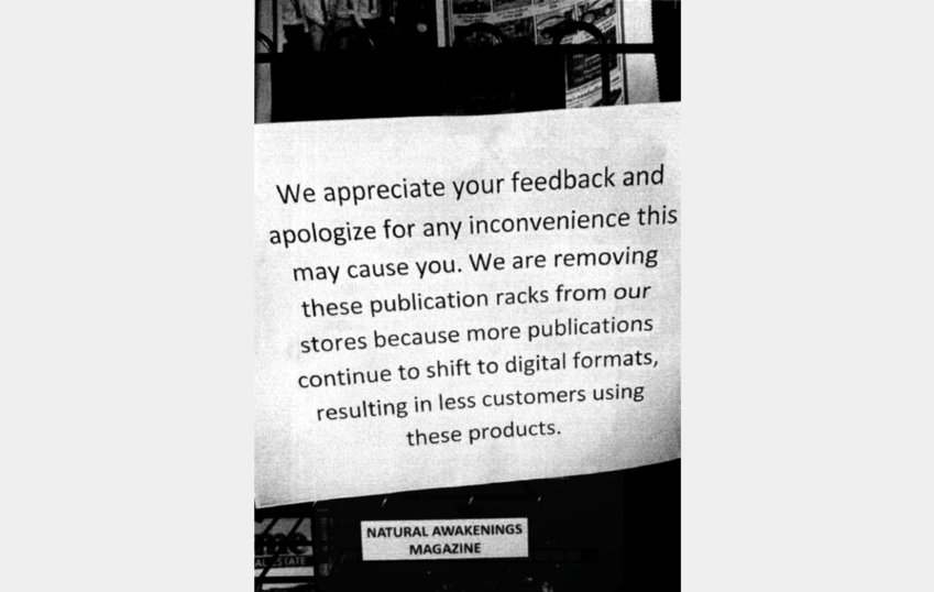 This announcement was posted on a free publication rack in a Kroger-owned grocery store in Boise, Idaho.