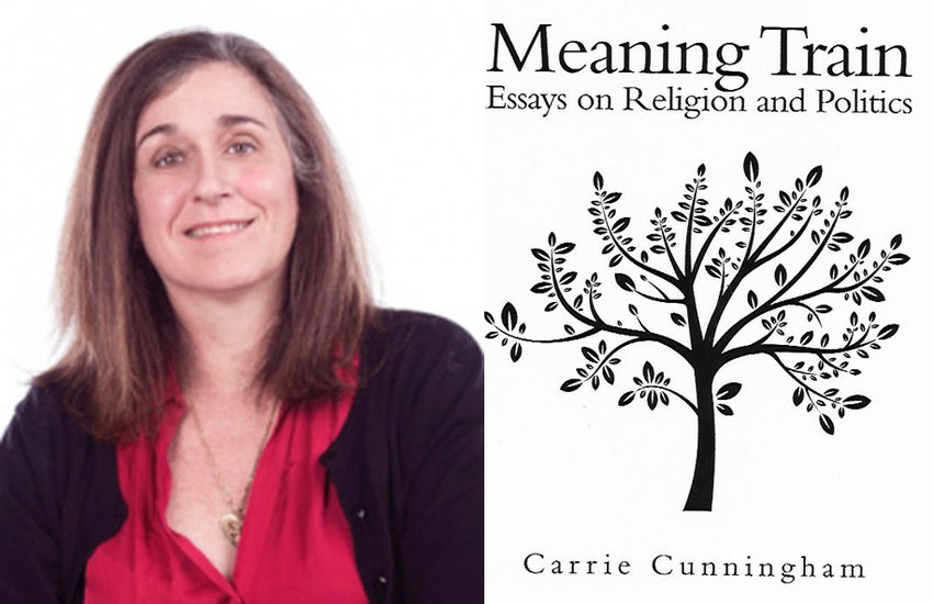 "Author Carrie Cunningham and her book ""Meaning Train."""