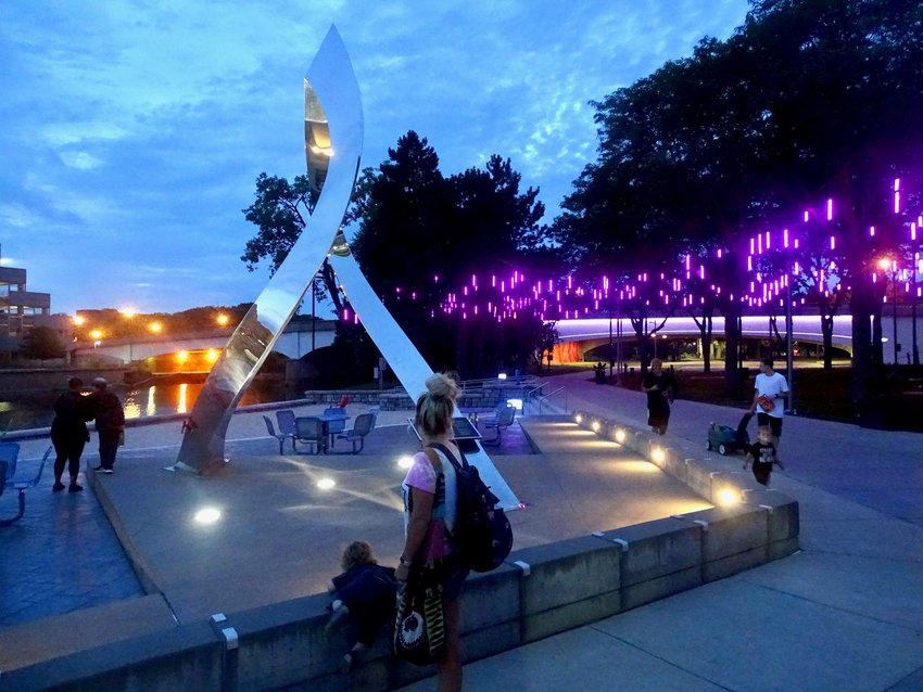 Rotary Park comes alive at night.