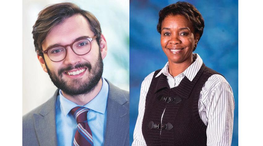 City councilmembers Brandon Betz (left) and Patricia Spitzley.