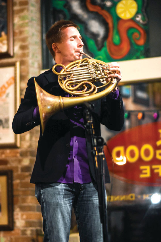 Grand Ledge native and MSU Symphony alumnus David Cooper, seen here in 2016 at an the Link & Pin gallery in Austin, Texas was named principal horn of the Chicago Symphony last fall.