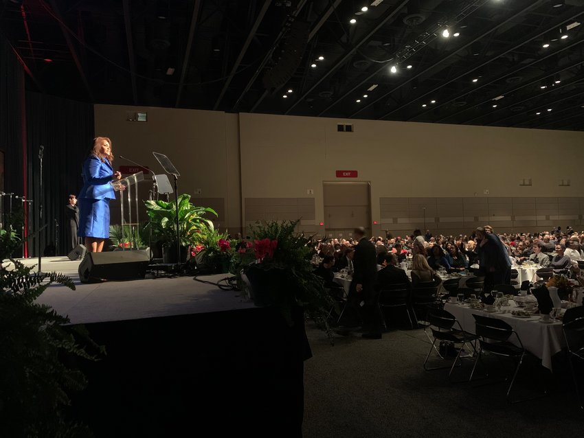 A record-setting crowd of 1,800 people gathered at the Lansing Center for the 35th annual MLK Day of Celebration on Monday.