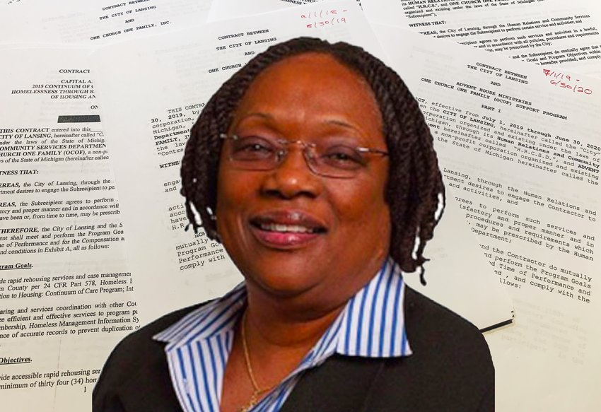 "Joan Jackson Johnson, director of Lansing's Department of Human Relations and Community Services, remains on paid leave this week after ""issues with contracts"" surfaced late last year, city officials said. And recently released records help to explain what prompted the concerns that led to her recent departure."