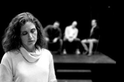 "Janet Colson in Riverwalk Theatre's Black Box production ""Boy Gets Girl."""