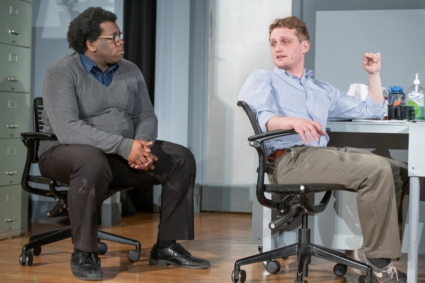 "Ndegwa McCloud (left) and Connor Kelly in Peppermint Creek's ""Gloria."""