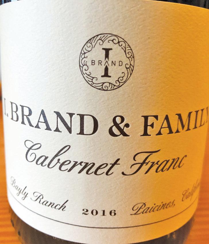 I. Brand & Family's Cabernet Franc.
