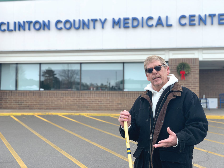 Doug Barnes, 62, of St. Johns, cannot receive prescription painkillers from Clinton County Medical Center because of his doctor's restrictive policies against cannabis consumption.