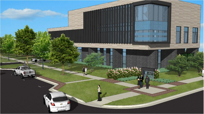 A rendering of the proposed Michigan Realtors headquarters on Washington Avenue.