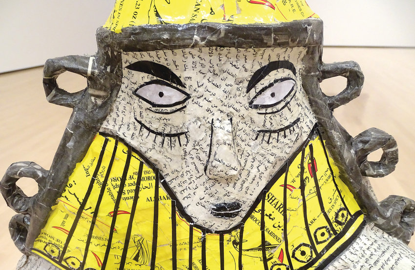 Iraqi-American artist Michael Rakowitz used newspapers and sardine cans to re-create a 2,000-year-old artifact plundered from the National Museum of Baghdad in the wake of the 2003 U.S. invasion.