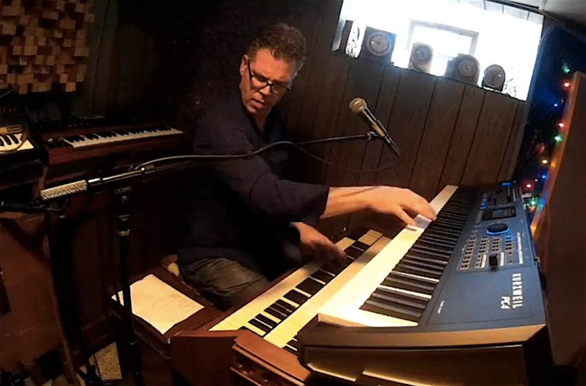 Jim Alfredson rocks his basement in a live-streamed Saturday night concert with guitarist Greg Nagy and drummer Glenn Giordano.