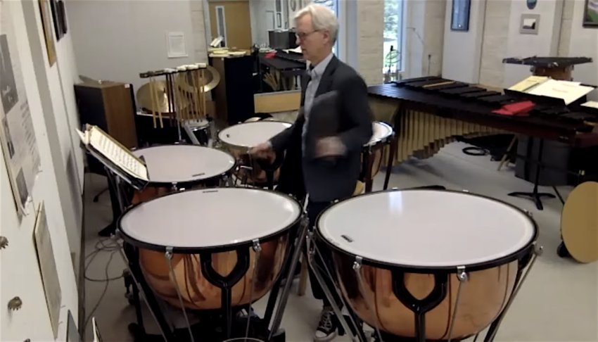 "Andrew Spencer, the Lansing Symphony Orchestra's principal timpani player, thundered away in quarantine for an online audience last week as part of the new ""LSO at Home"" series."
