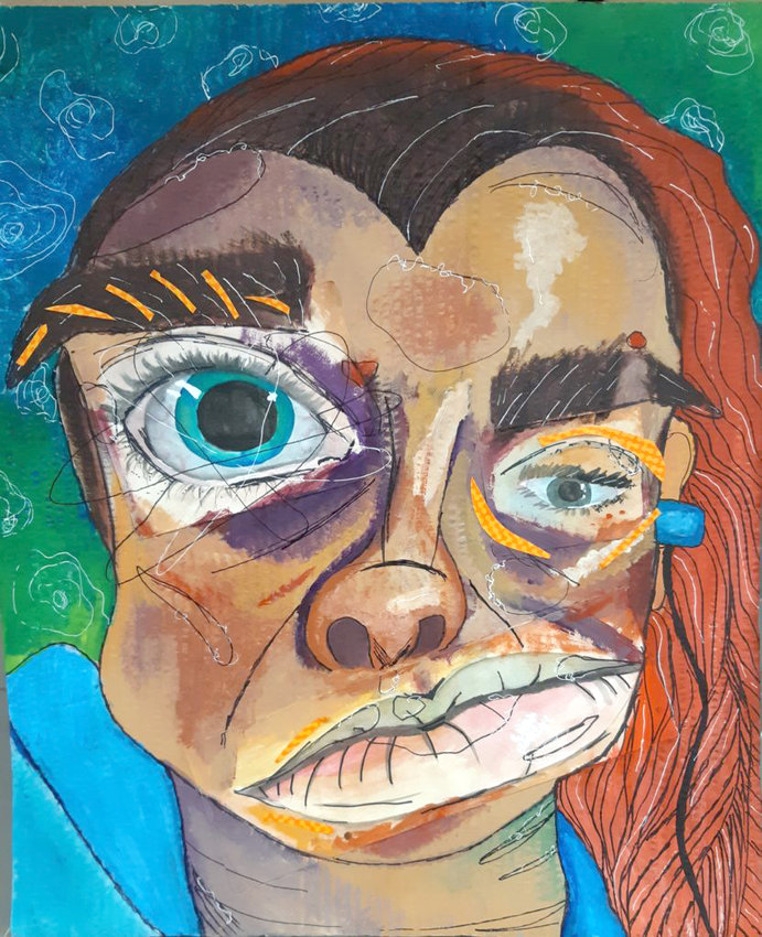 """""""Green Euphoria,"""" by Hannah Dombroski, from the Lansing Art Gallery's current online exhibit of high school student art."""