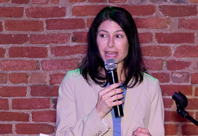 Michigan Attorney General Dana Nessel speaking at the 4th Annual City Pulse LGBTQ+ Inclusion Awards ceremony last year, when she was an honoree.