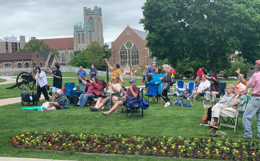 Michiganders gathering on the Capitol lawn today for a Day of Repentance and Prayer.