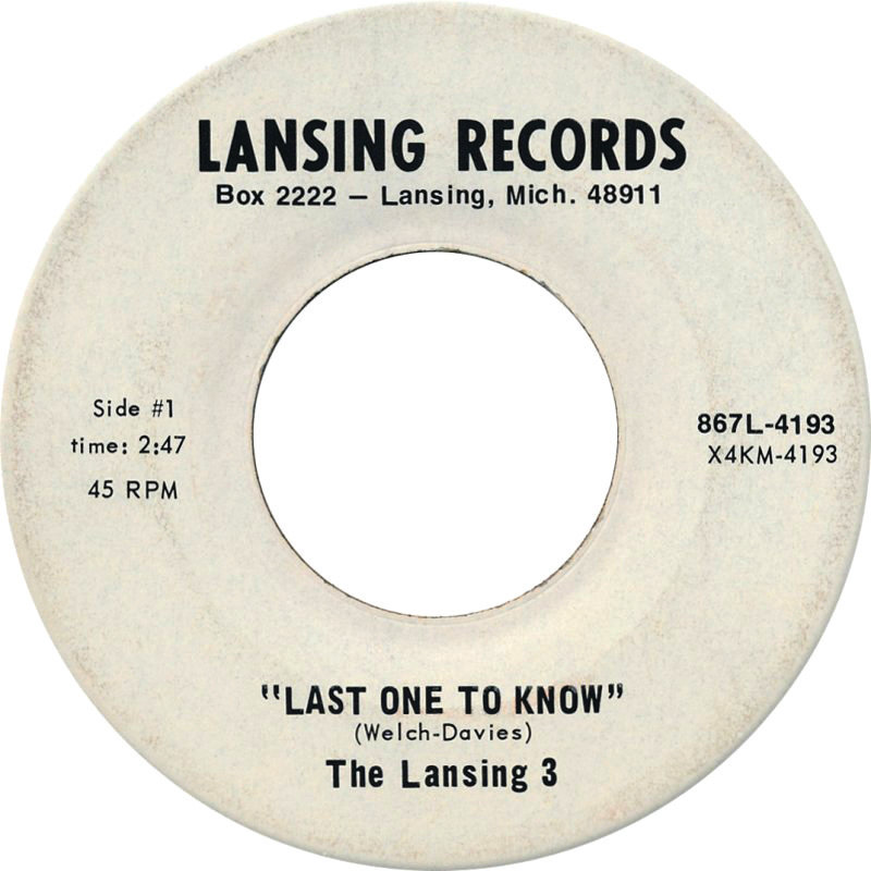 "The Lansing 3 ""Last One To Know"" — 1969"