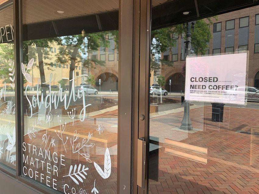 Strange Matter Coffee Co. is closing its downtown Lansing location as a result of a decline in business.