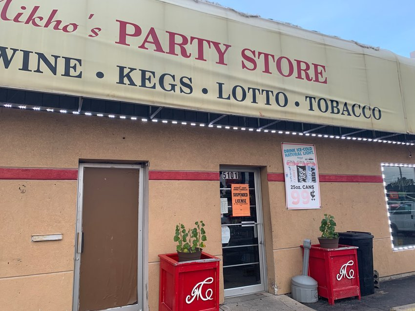Mikho's, a southside Lansing liquor store, is closed for 30 days after it sold liquor to teens, according to the state Liquor Control Commission.