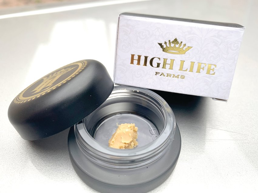 Live hash rosin from High Life Farms.