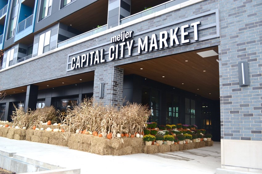 The front entrance to Meijer's Capital City Market.