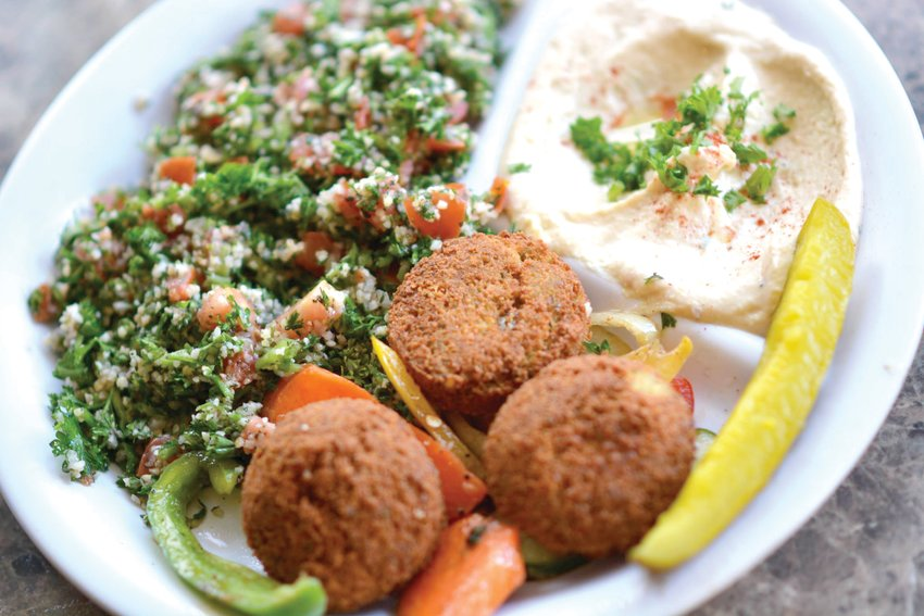 A falafel combo from Sultan's Mediterranean.