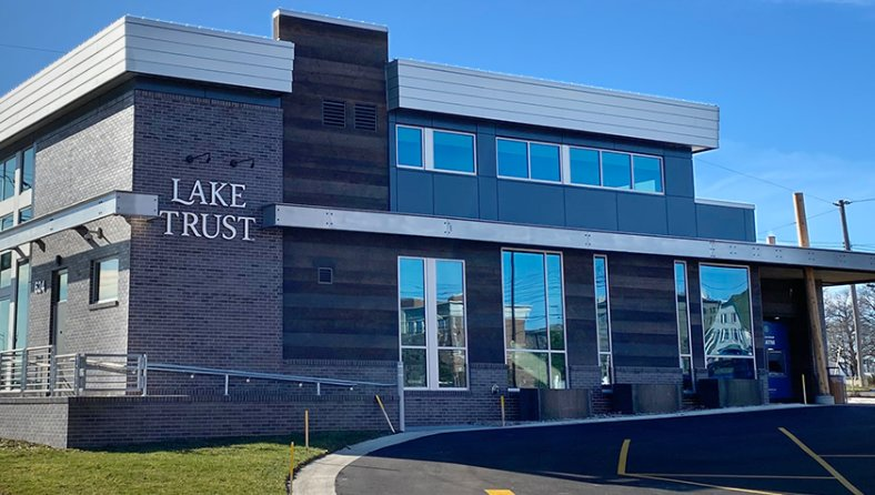 Lake Trust Credit Union's new downtown Lansing branch.