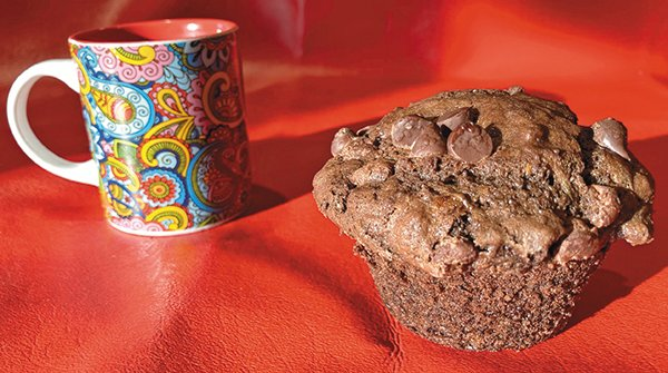 Nothing beats a chocolate muffin with a cup of coffee.